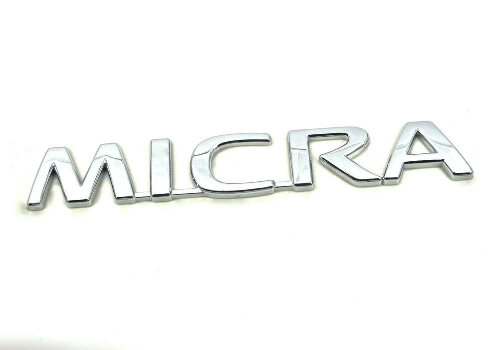 Genuine New NISSAN MICRA BOOT BADGE Rear Emblem For Micra
