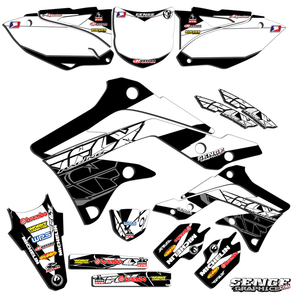 1992 1993 KX 125 250 GRAPHICS KIT KAWASAKI KX125 KX250