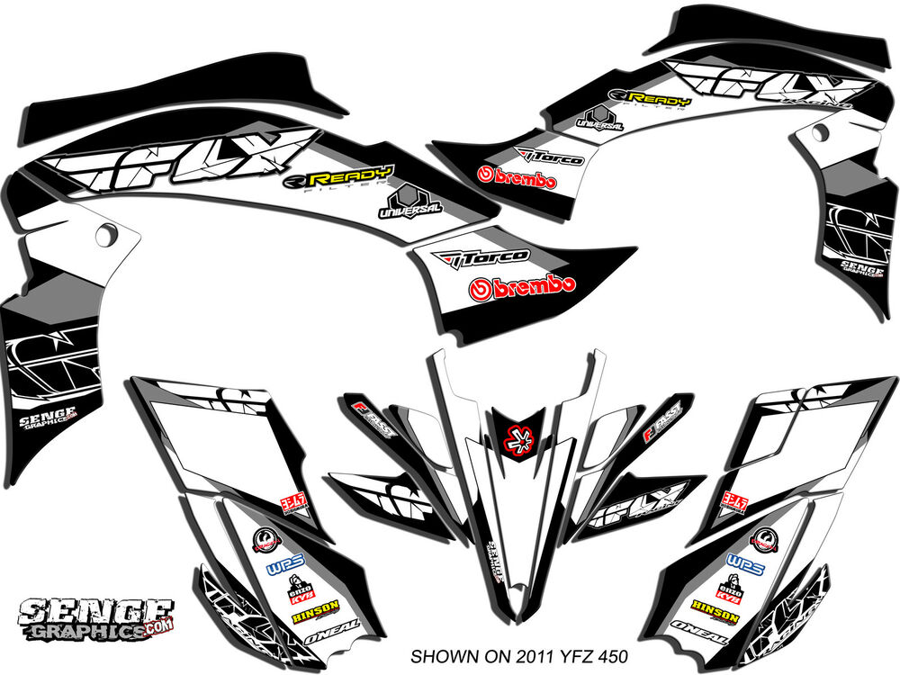 RAPTOR 660 RAPTOR660 YAMAHA GRAPHICS KIT DECO STICKERS ATV