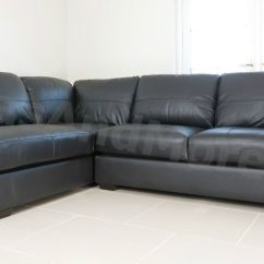 Corner Sofa Leather Ebay Inflatable Single Seater Air Footrest Brand New - Westpoint Faux Black ...