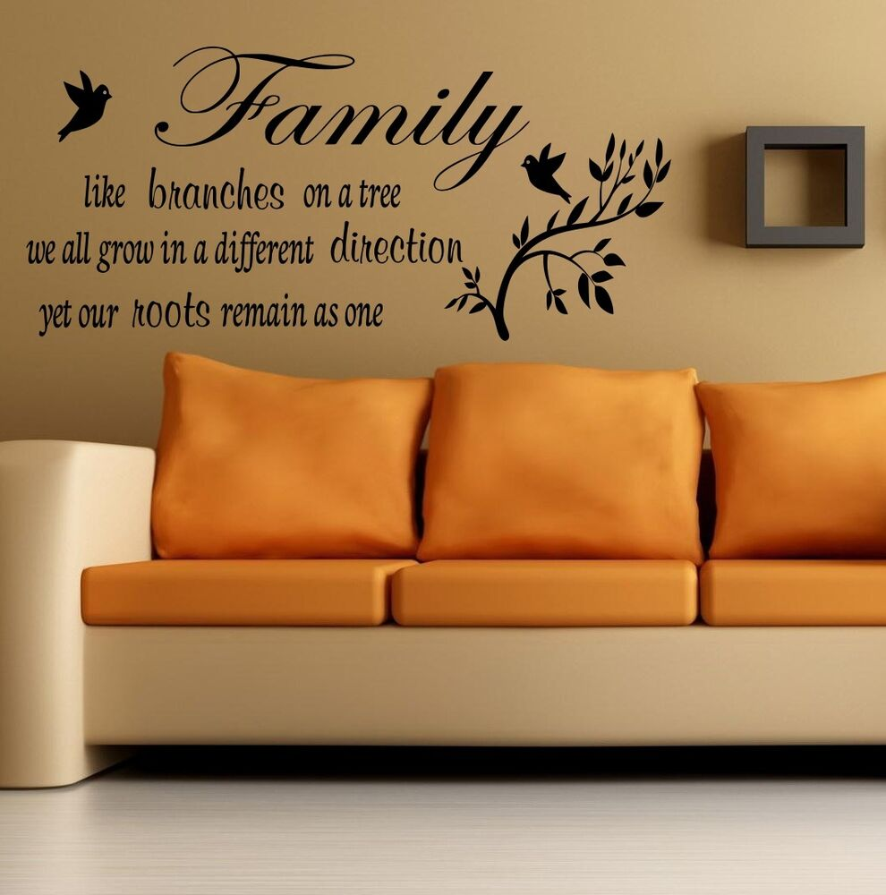 Wall Quote Family like a branches on a tree Wall Sticker