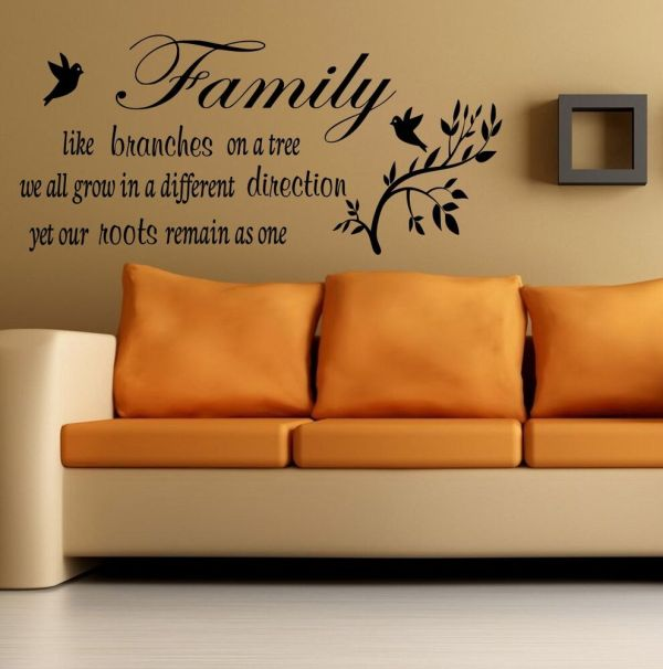 Wall Quote Family Branches Tree Sticker