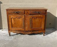 19TH C COUNTRY FRENCH SIDEBOARD / CABINET W BEAUTIFUL IRON ...