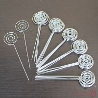Lot 50pcs DIY craft circle wires memo&card&photo clip ...