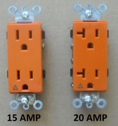 120v plug decora isolated ground receptacle plug decorative outlet 120v 15a 20a amp orange [ 1000 x 902 Pixel ]