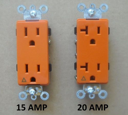 small resolution of  120v plug decora isolated ground receptacle plug decorative outlet 120v 15a 20a amp orange