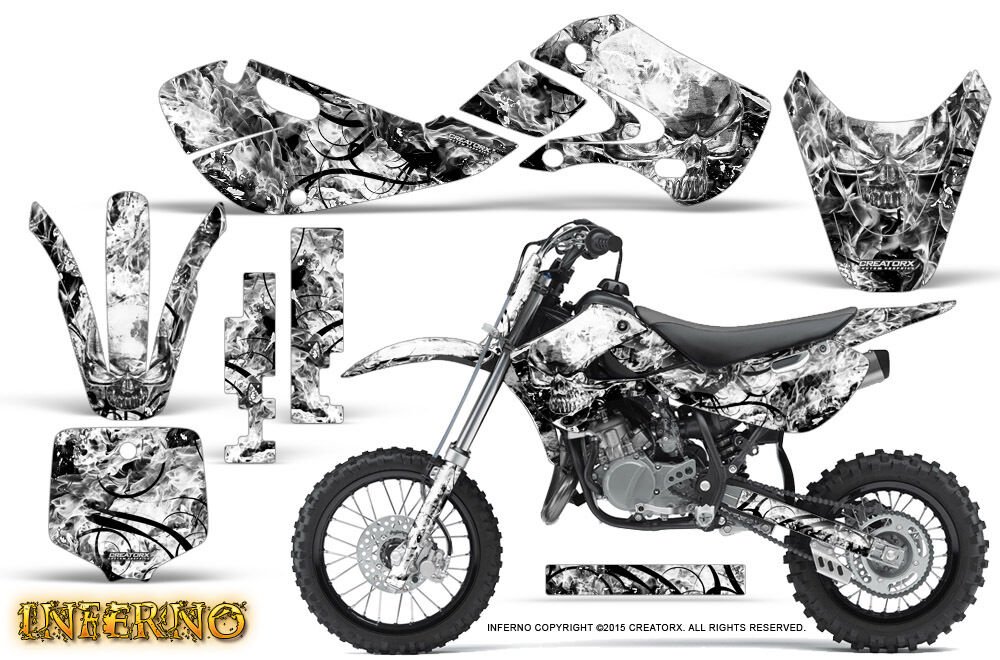 KAWASAKI KLX110 02-09 KX65 00-12 GRAPHICS KIT CREATORX