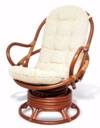 Java Handmade Design Rattan Wicker Swivel Rocking Chair ...