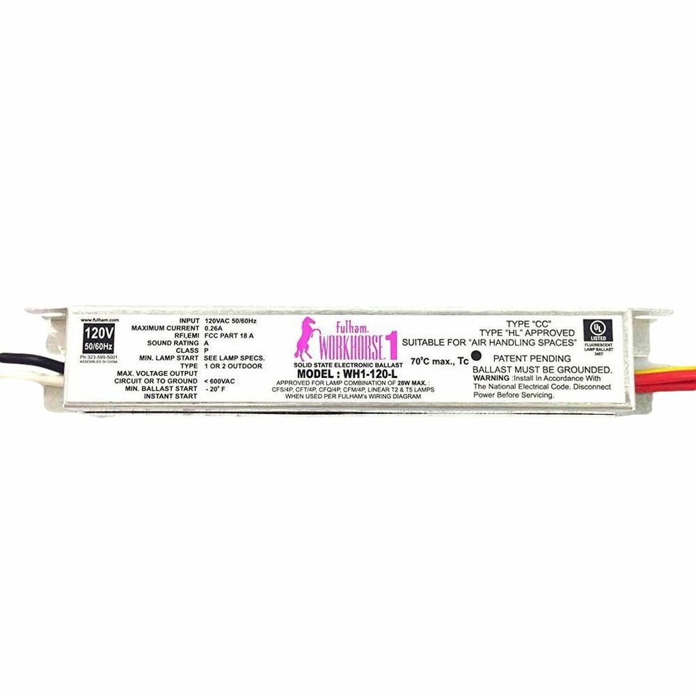 hight resolution of fulham workhorse 1 versatile solid state electronic ballast wh1 120 l 15906 ebay