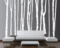 Large Wall Birch Tree Decal Forest Vinyl Sticker Removable ...