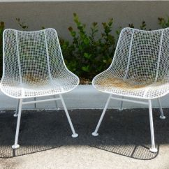 Sofa And Chaise Lounge Set Simon Li Hunter Leather Costco 2 Woodard Mid Century Wrought Iron Mesh Chairs In The ...