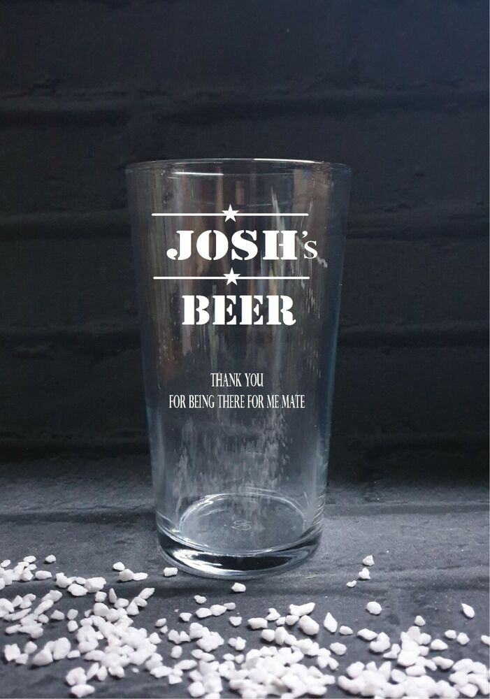 PERSONALISED ENGRAVED PINT GLASS, Lager glass, beer glass