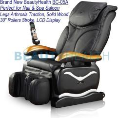 Shiatsu Massage Chair Recliner W Heat Stretched Foot Rest 06c Leather Scratch Repair Brand New Beautyhealth Bc-05a Nail Spa Salon | Ebay