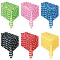 POLKA DOTS Plastic Tablecover Table Cloth Rectangle Party