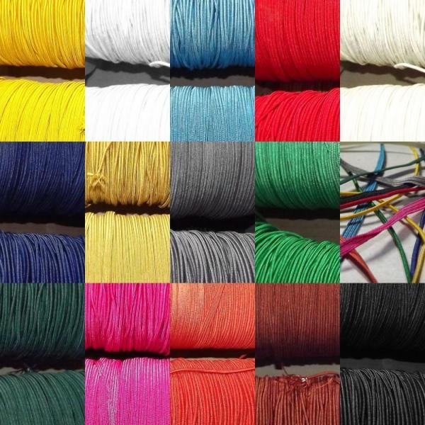 Elastic 2mm And 5mm Flat. 14 Colours Bungee Hat