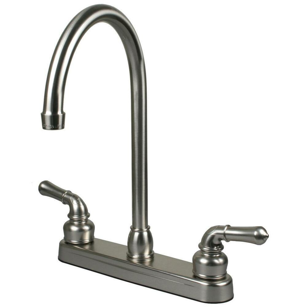 Brushed Nickel RV  Motor and Mobile Home Kitchen Faucet