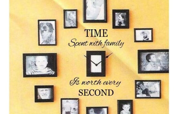 Time Spent With Family Wall Art Decal Quote Words