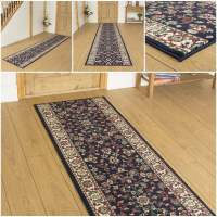 Persian D / Blue - Hallway Carpet Runner Rug Traditional ...