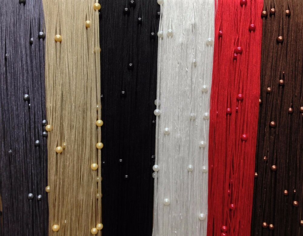 BEADED STRING CURTAIN Fly Screen Door Curtain Many Colours Available EBay