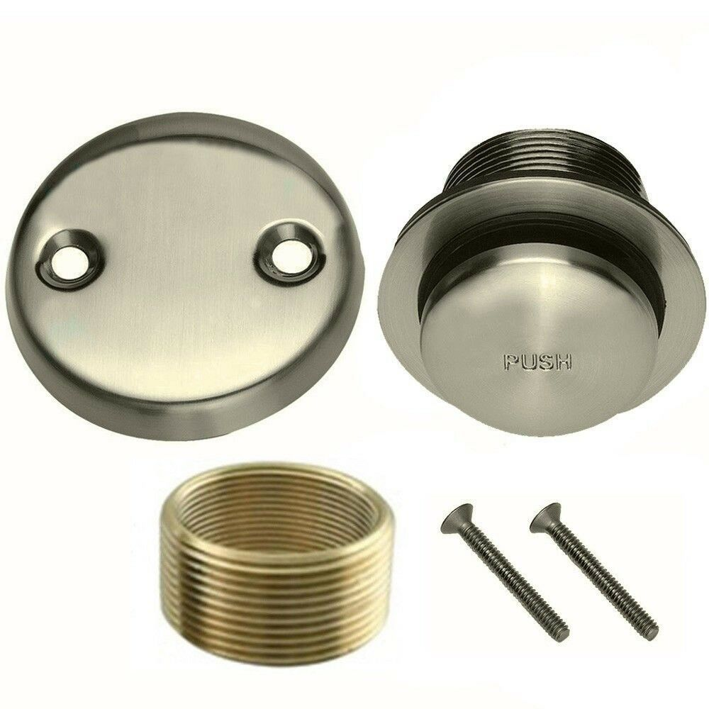 Brushed Nickel Toe Touch Conversion Kit Tub Drain Overflow  eBay