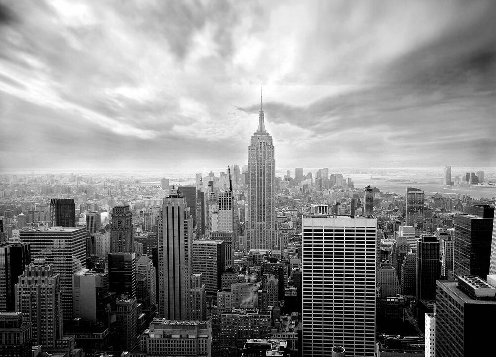 deals on living room furniture modern rug wall mural photo wallpaper new york city skyline black and ...
