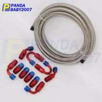 AN6 -6AN -6 Stainless Steel Braided OIL/FUEL Line+Fitting ...