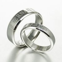 Personalize His and Her Matching Anniversary Wedding Ring ...