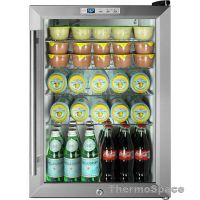 Glass Door Beverage Cooler Mini Fridge, Compact Reach-In ...