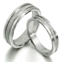His and Her Matching Wedding Bands Titanium Ring Set 016A3 ...