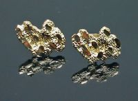 10K Yellow Gold Nugget Earrings