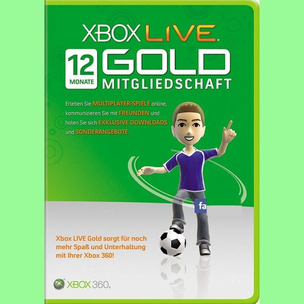 Xbox Live Gold 12 Month Gift Card