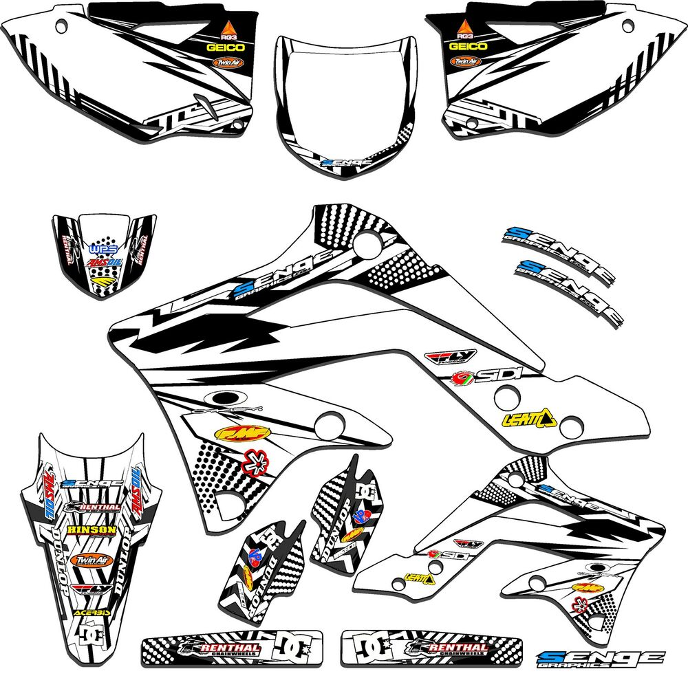 1996 1997 1998 KX 125 250 GRAPHICS KIT KAWASAKI KX125
