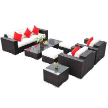 Deluxe 7pc Outdoor Rattan Wicker Sectional Patio Furniture