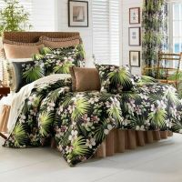 J Queen Seychelles Tropical TWIN Comforter Set Black ...