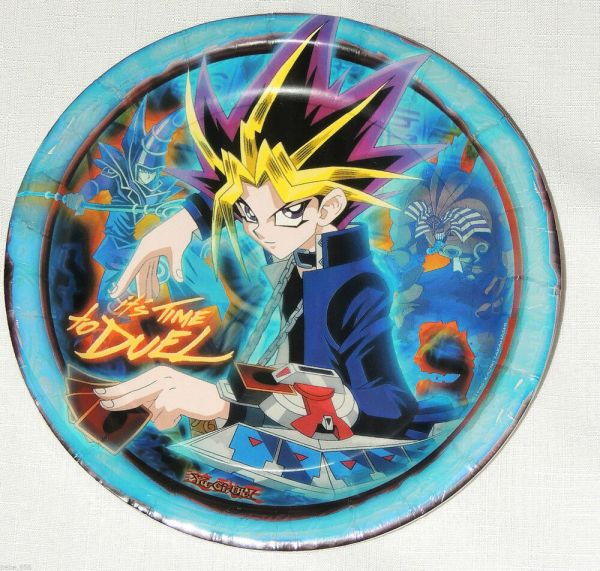 Yu-gi- Blue 8-paper Lunch Plates Party Supplies