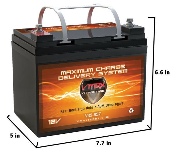 Vmax857 12v 35ah Group U1 Agm Sla Deep Cycle Marine Fresh Battery