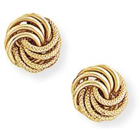 9ct Gold Knot Stud earrings Gift Boxed | eBay