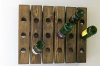 Wine Riddling Rack Wall Hanging Wine Rack Handmade | eBay