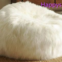 Intex Sofa Inflatable Professional Cleaning West London Large Faux Fur Beanbag Bean Bag Cover Shaggy White ...
