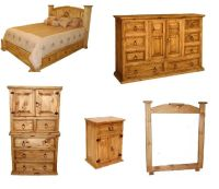 Rustic Western 5pc Mansion Storage Bed Bedroom Set King ...