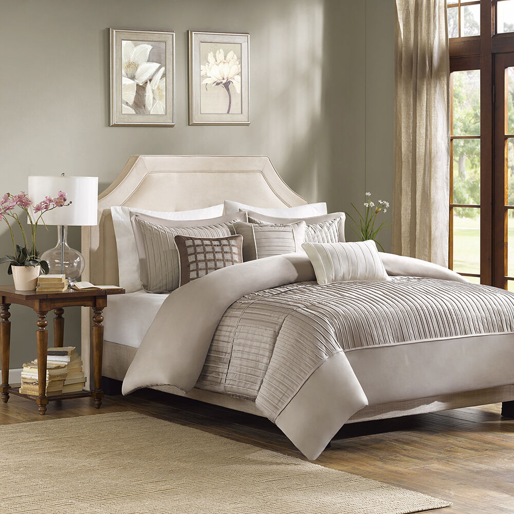 ivory sofa cover innovation puzzle luxe bed beautiful modern elegant taupe beige pleat stripe ...