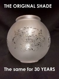 BOLA frosted clear Clip on replacement glass lamp shade ...