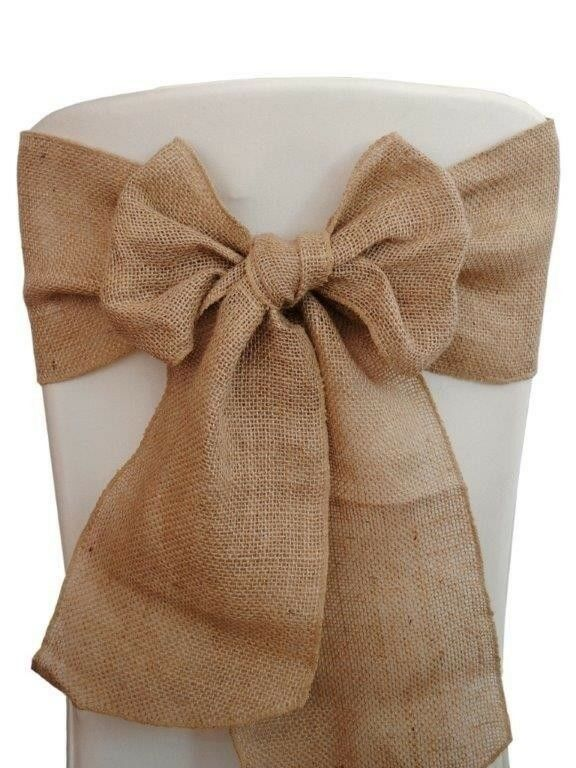 75 Burlap Chair Sashes 6x108 Wedding Event Parties Shows