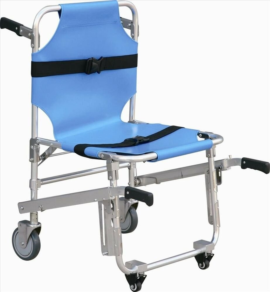 Medical Stair Stretcher Ambulance Wheel Chair New Blue