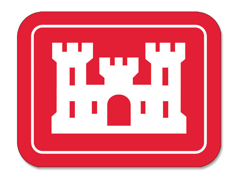 3x4 In Rectangle U S Army Corps Of Engineers Sticker