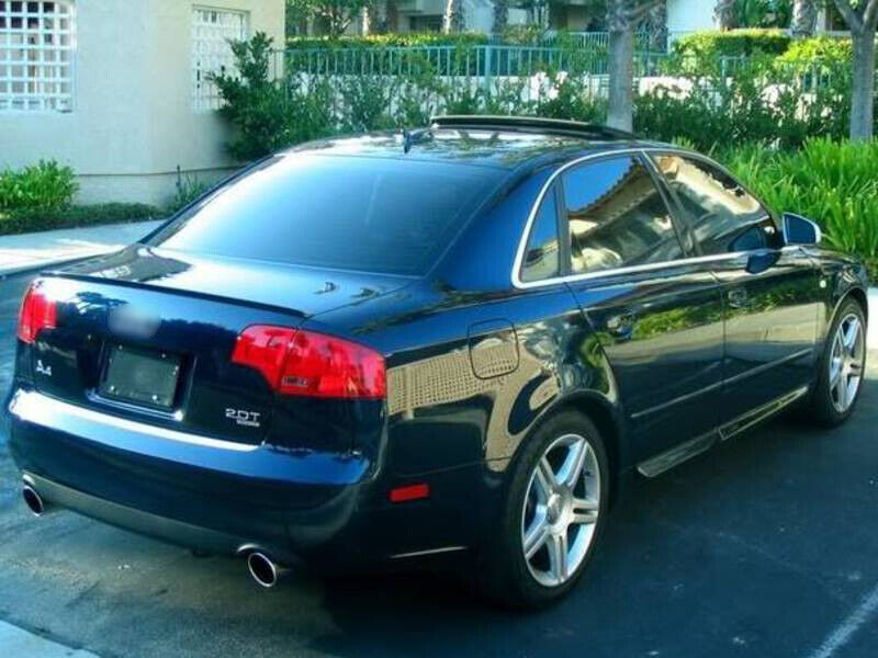* Painted For Audi A4 S4 B7 Sedan Trunk Lip Spoiler