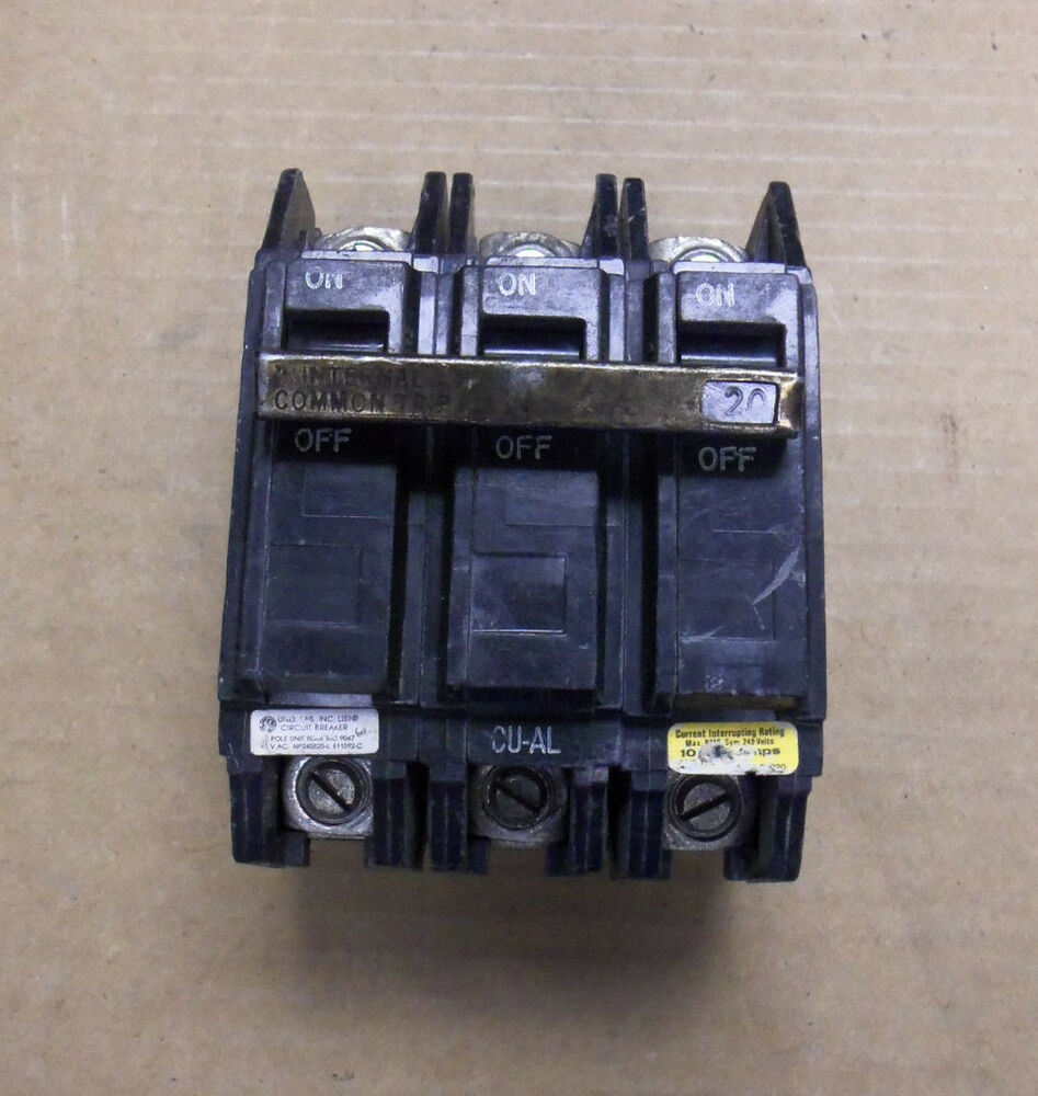 Electric Ge 15 Amp 3 Pole Circuit Breaker Model Thqc32015 15a 3
