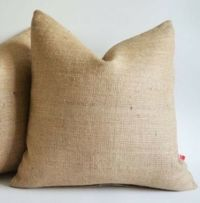 Burlap Pillow Cover 26 X 26 inches Inch Rustic Decor | eBay