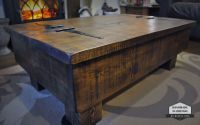 Storage Coffee Table/Wood Chest. Rough Sawn Rustic Pine ...