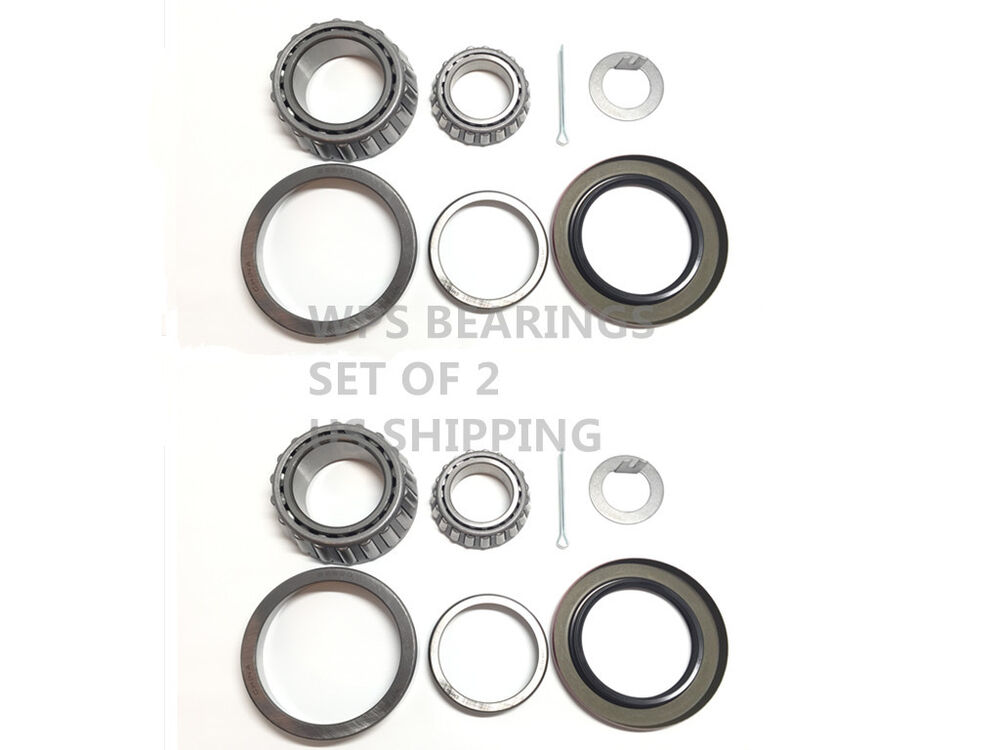(2) BK3-300 Trailer Bearing Kits 25580 LM67048 Seal 2.250